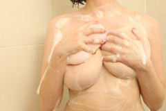 Louisa May Big Boobs Get Soapy in the Shower 051