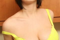 Louisa May Big Tits Yellow Bra and Banana 008