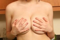 Louisa May Big Tits Yellow Bra and Banana 014