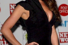 Lucy Pinder Big Cleavage Black Dress 04