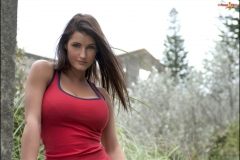 Lucy Pinder Big Tits Tight Red Top 05