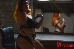 Lucy V Big Boobs in the Mirror 008