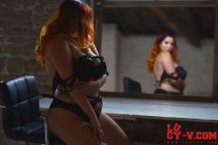 Lucy V Big Boobs in the Mirror 009