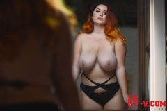 Lucy V Big Boobs in the Mirror 012