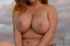 Lucy V Huge Boobs in Animal Print Bikini 012