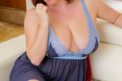 Maggie Green Huge Boobs in Tight Blue Top 012