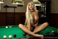 Maria Big Boobs Naked in the Billiard Room 008