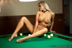 Maria Big Boobs Naked in the Billiard Room 010