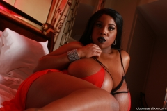 Maserati Huge Breasts in Red Negligee 006