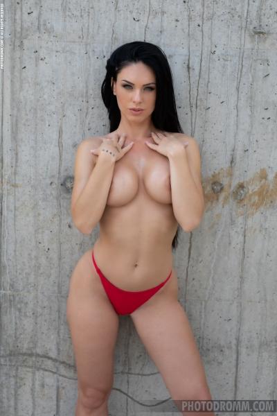 Megan-Big-Tits-in-Red-bikini-for-Photodromm-003