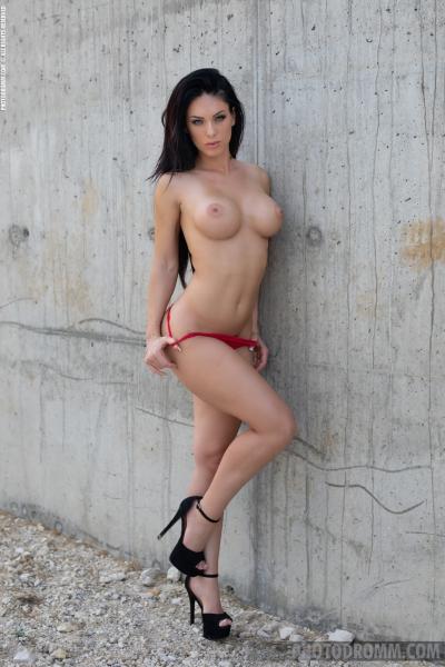 Megan-Big-Tits-in-Red-bikini-for-Photodromm-006