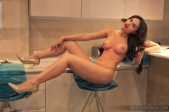 Melanie Big Tit Naked Fund in the Kitchen for Photodromm 008