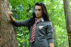 Mercedes Marston and Tanya Tolman Schoolgirl Naughtiness in the Woods 02