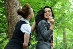 Mercedes Marston and Tanya Tolman Schoolgirl Naughtiness in the Woods 04