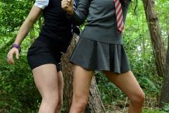 Mercedes Marston and Tanya Tolman Schoolgirl Naughtiness in the Woods 05