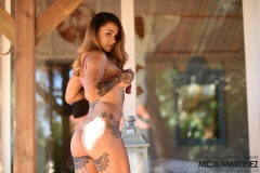 Mica Martinez Big Boobs Pink Swimsuit in the Sunshine 011