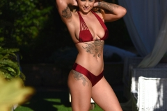 MIca Martinez Big Boobs Red Bikini Sunshine 001