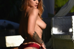MIca Martinez Big Boobs Red Bikini Sunshine 009