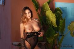 MIca Martinez Big Tits in Black Mesh Swimsuit 013