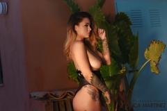 MIca Martinez Big Tits in Black Mesh Swimsuit 015