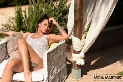 Mica Martinez Gets Naked on a Sun Lounger 001