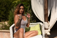 Mica Martinez Gets Naked on a Sun Lounger 009