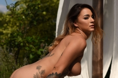 Mica Martinez Gets Naked on a Sun Lounger 013