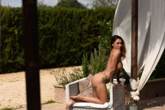 Mica Martinez Gets Naked on a Sun Lounger 014