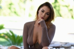 Mica Martinez Naked Boobs Under a Tree 007
