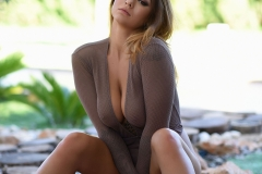 Mica Martinez Naked Boobs Under a Tree 009