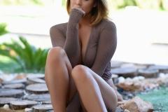 Mica Martinez Naked Boobs Under a Tree 011