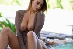 Mica Martinez Naked Boobs Under a Tree 012
