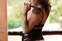 Mica Martinez Nice Boobs Sexy Black Cutout Dress 012