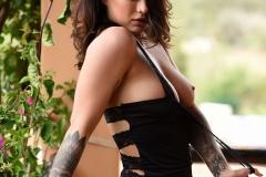 Mica Martinez Nice Boobs Sexy Black Cutout Dress 014