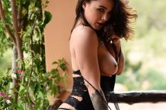 Mica Martinez Nice Boobs Sexy Black Cutout Dress 015