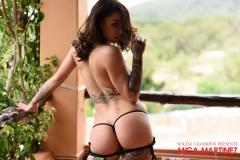 Mica Martinez Nice Boobs Sexy Black Cutout Dress 018