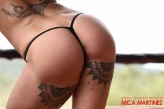 Mica Martinez Nice Boobs Sexy Black Cutout Dress 020