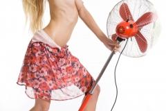Mija Big Boobs in a Light Red Summer Dress 008