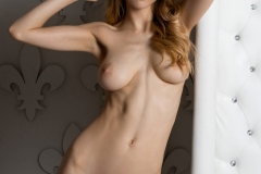 MIla Azul Naked Boobs in Red Bra and Panties for Photodromm 027