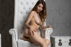 MIla Azul Naked Boobs in Red Bra and Panties for Photodromm 030