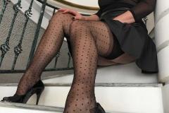 Miss Adrastea Big Boobs and Polka Dot Stockings 003