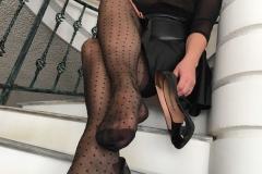 Miss Adrastea Big Boobs and Polka Dot Stockings 007