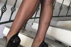 Miss Adrastea Big Boobs Black Stockings and High Heels 003