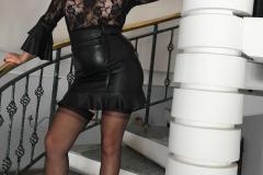 Miss Adrastea Big Boobs Black Stockings and High Heels 004