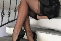 Miss Adrastea Big Boobs Black Stockings and High Heels 006