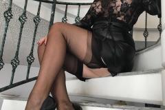 Miss Adrastea Big Boobs Black Stockings and High Heels 007