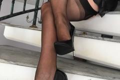 Miss Adrastea Big Boobs Black Stockings and High Heels 015