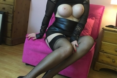 Miss Adrastea Big Boobs Nylons Seethrough and Boots 008