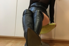 Miss Adrastea Big Boobs Nylons Seethrough and Boots 012
