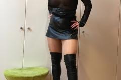 Miss Adrastea Big Boobs Nylons Seethrough and Boots 013